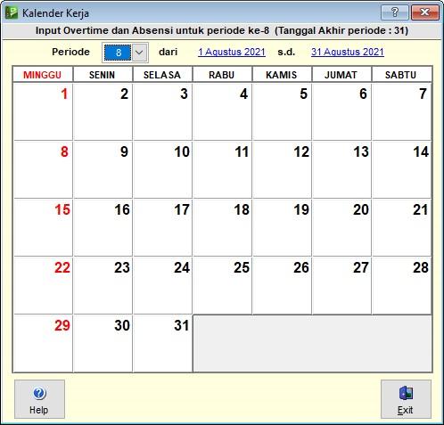 kalenderkerja