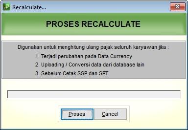 recalculate